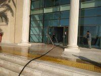 שאיבת הצפה במרכז מסחרי